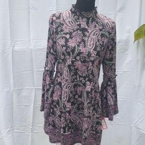 Xhileration Juniors xl Paisley sweater dress